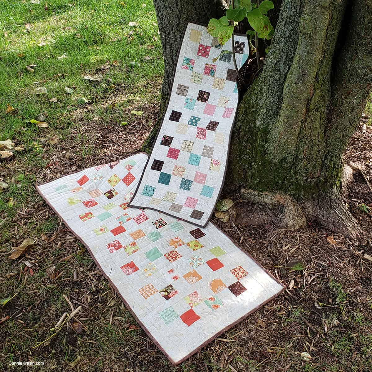 7 Square Table Runner tutorial and the 6 Square table runner