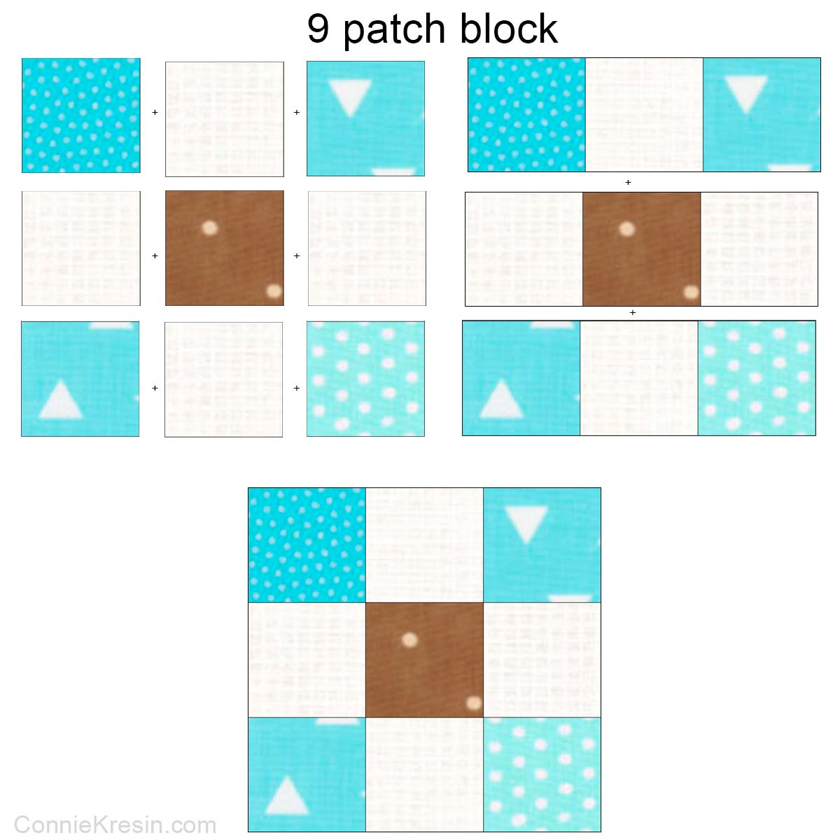 9 patch quilt block diagram