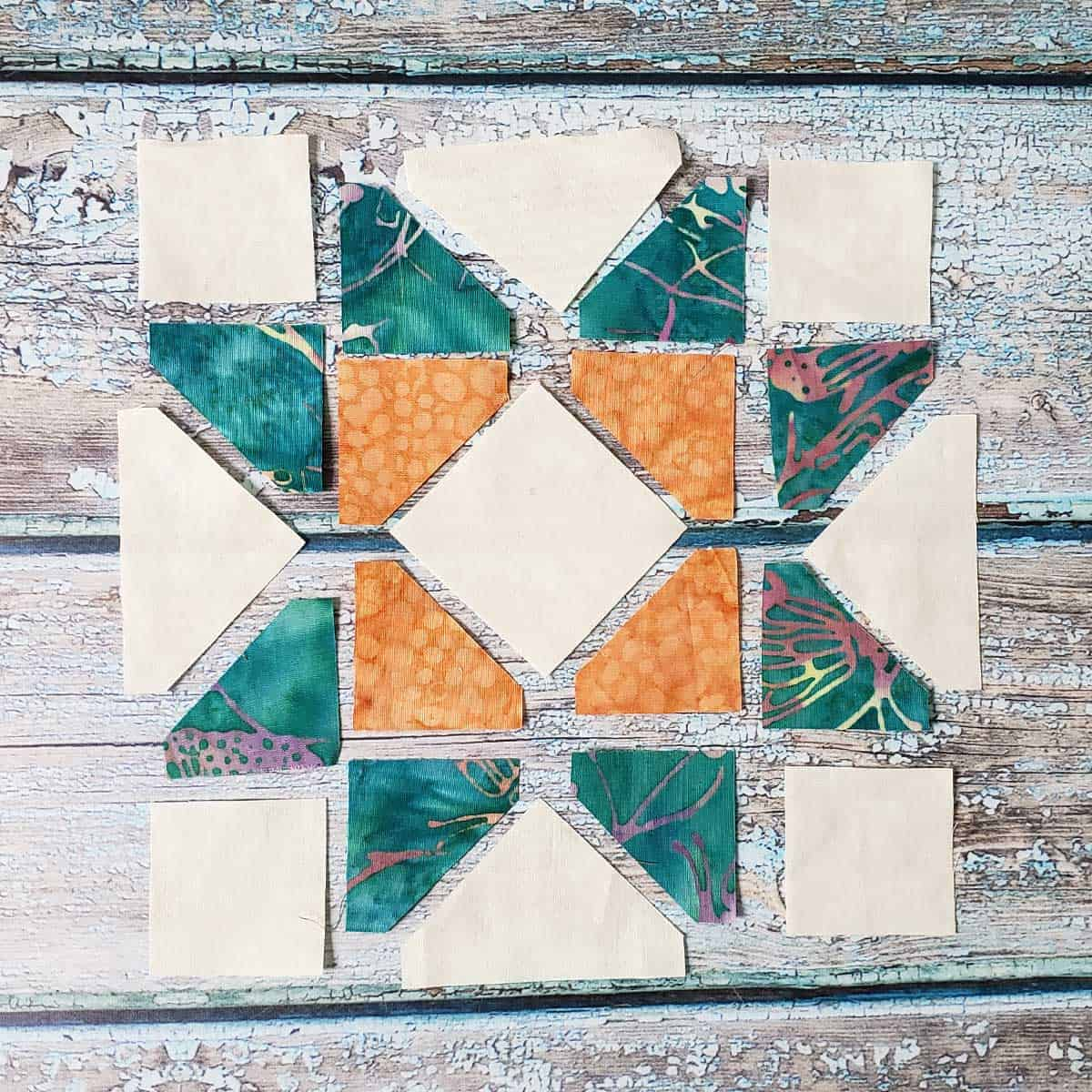 4 inch quilt block sections