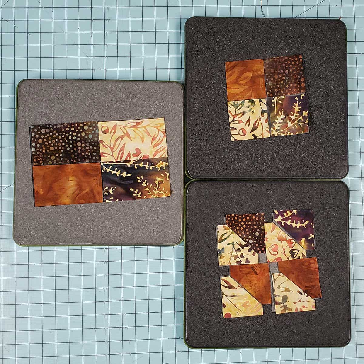 Using the AccuQuilt GO! cutter and 4-inch Qube dies
