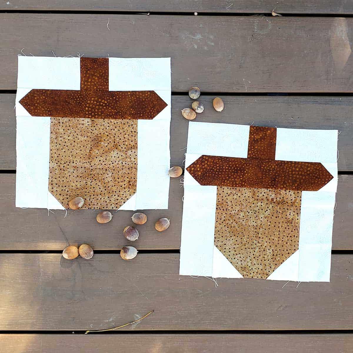 Acorn quilt blocks