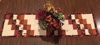 Anne made the autumn table runner