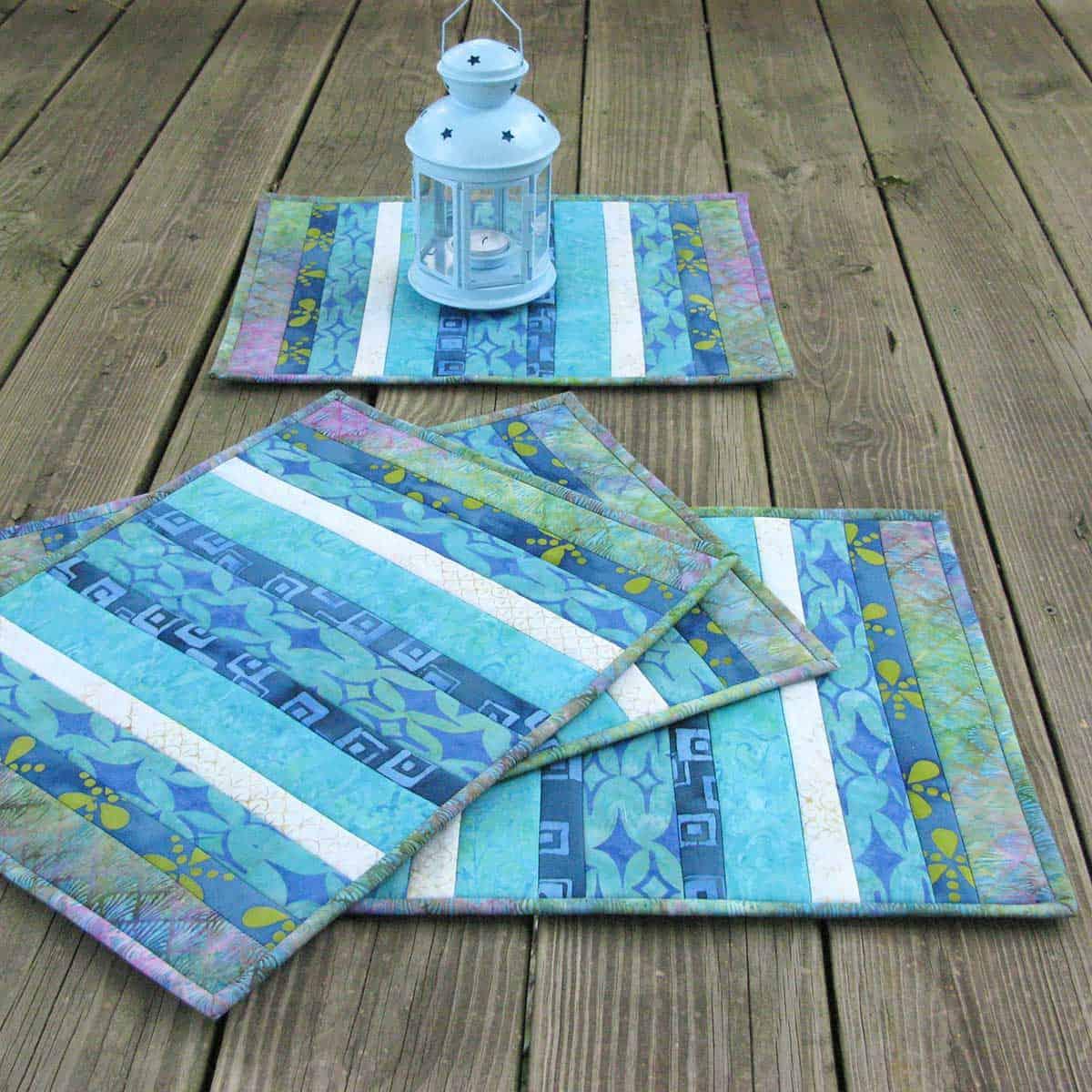 Batik QAYG placemats