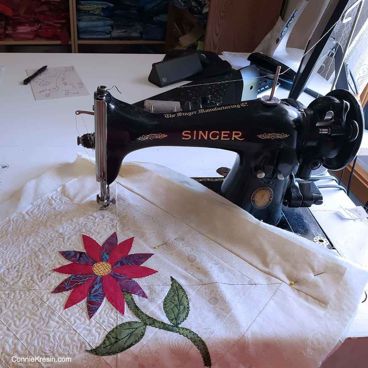 Vintage Singer sewing machine for quilting