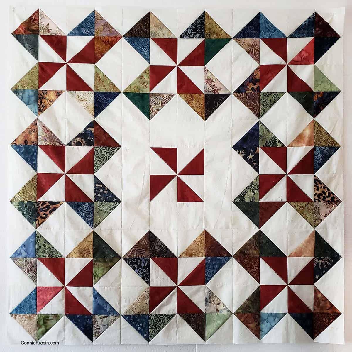 Batik pinwheel quilt