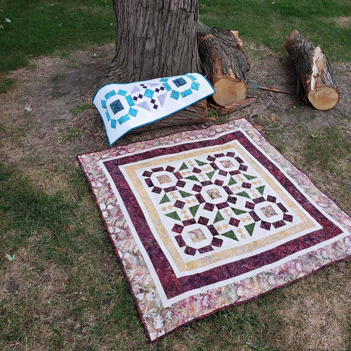 Board Game as a quilt and a table runner