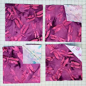 bow tie placemats piecing