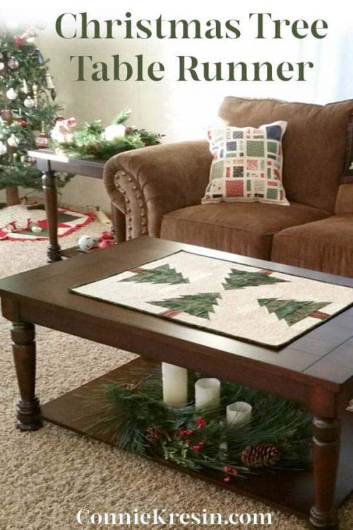 Christmas Tree Table Runner tutorial