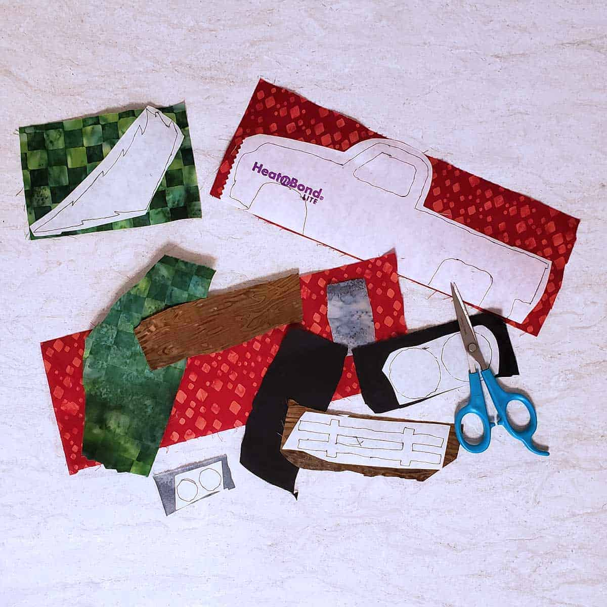 Batiks used for applique