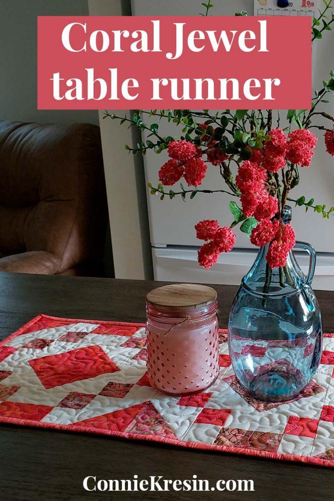 Coral Jewel Table Runner tutorial