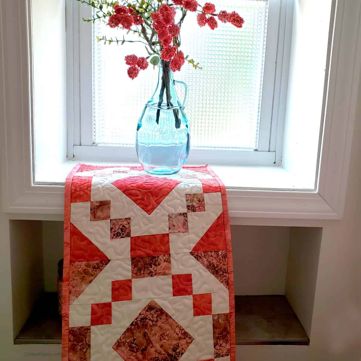 Table runner in the bathroom