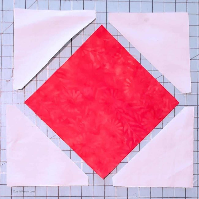 sub-cut these in half on the diagonal for half square triangles