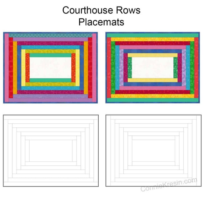 Diagram of the Courthouse Rows placemats