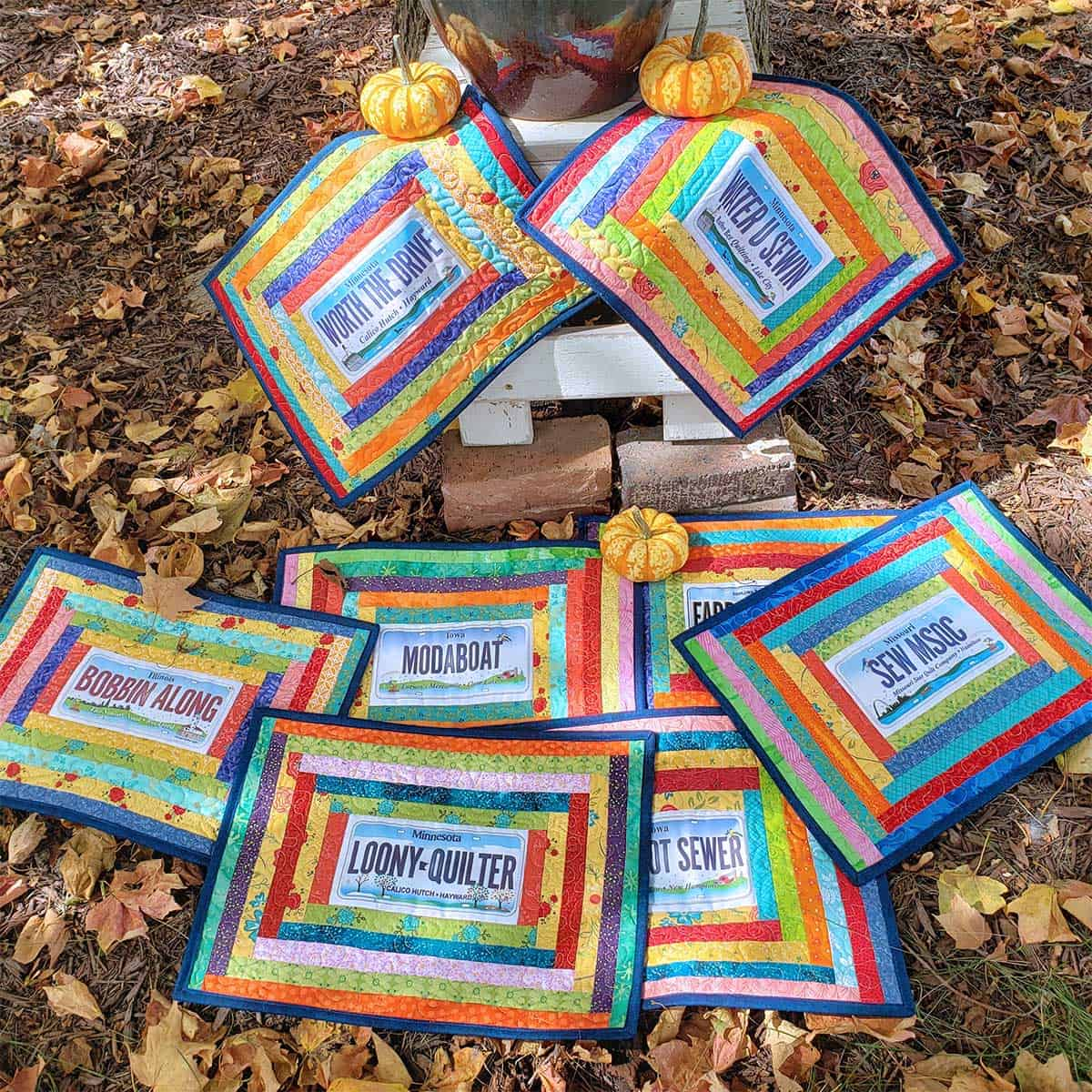 Courthouse Rows placemats under the maple tree