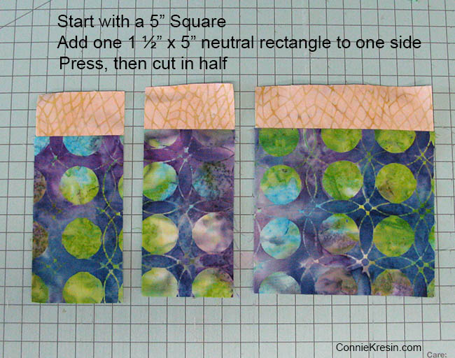 Creating the blocks for the baby quilt