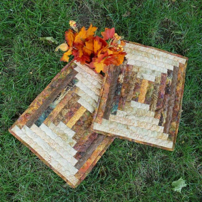 Fall Log Cabin Placemats