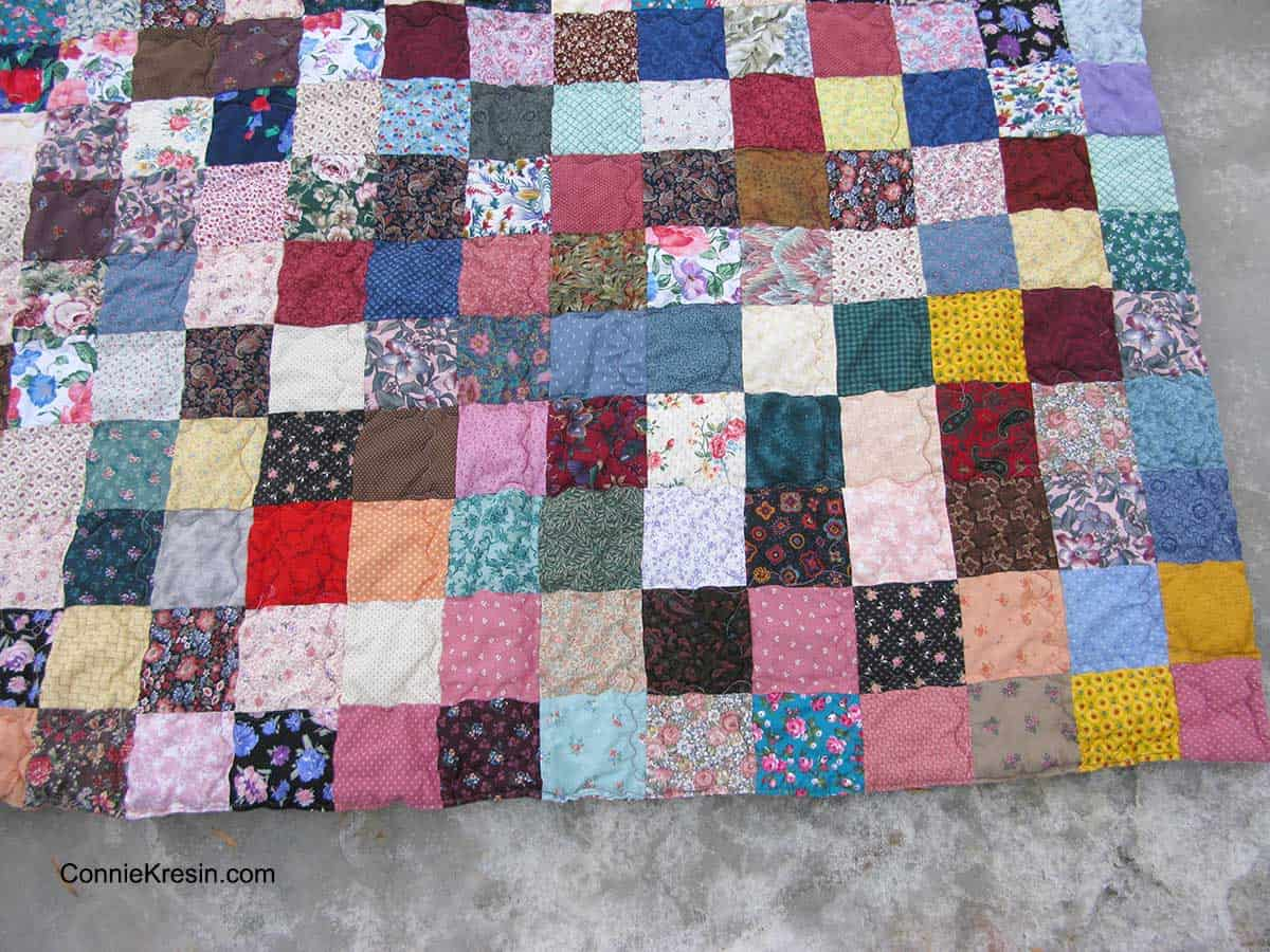 Fast and easy scrappy quilt on river ice