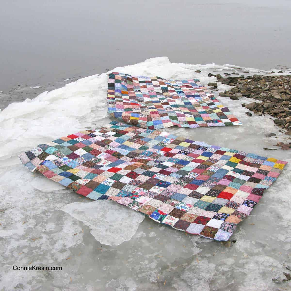 Fast and easy scrappy quilts on river bank