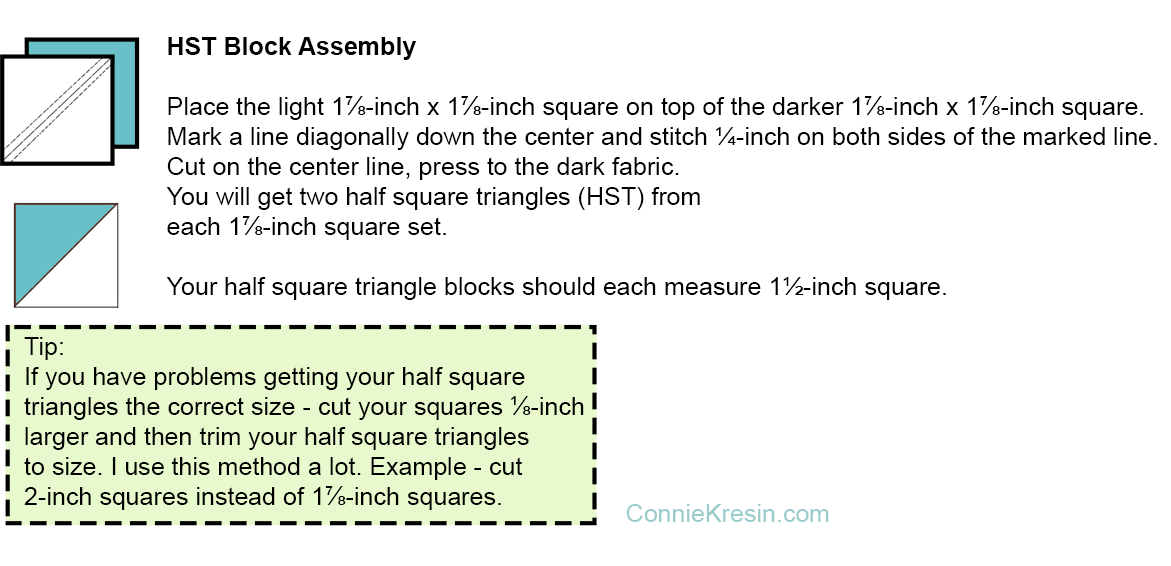 Half Square Triangle assembly