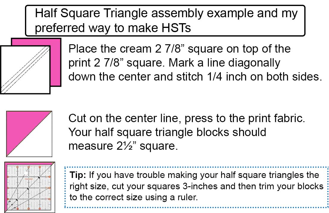 Easy way to make HST squares