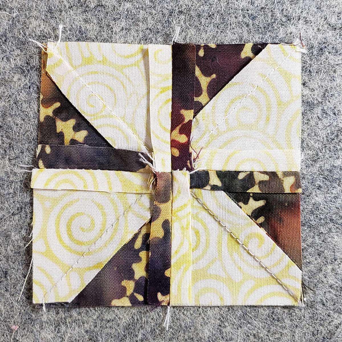 back of the pinwheel block