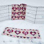 Heart tablerunner quilt