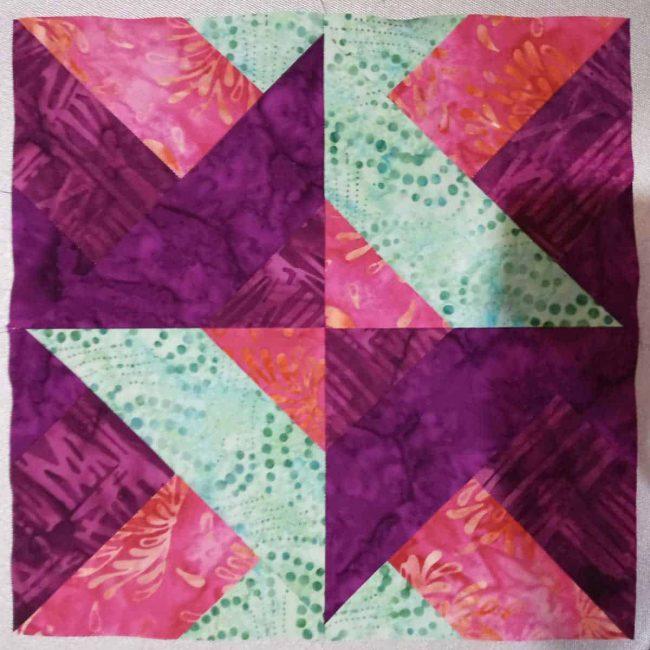 Hidden Wells quilt block by Norma