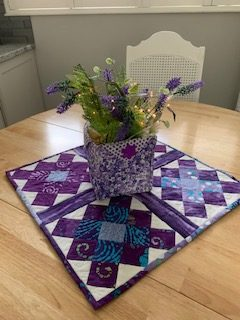 Fabric Basket and Granny Squares