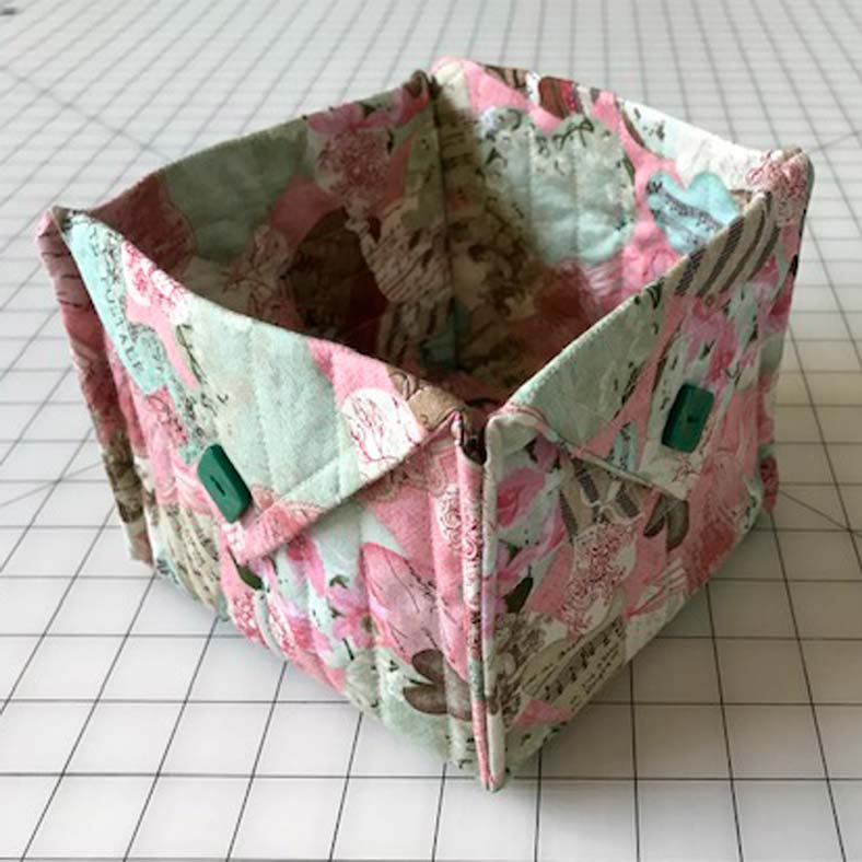 Jeanne made this fabric basket