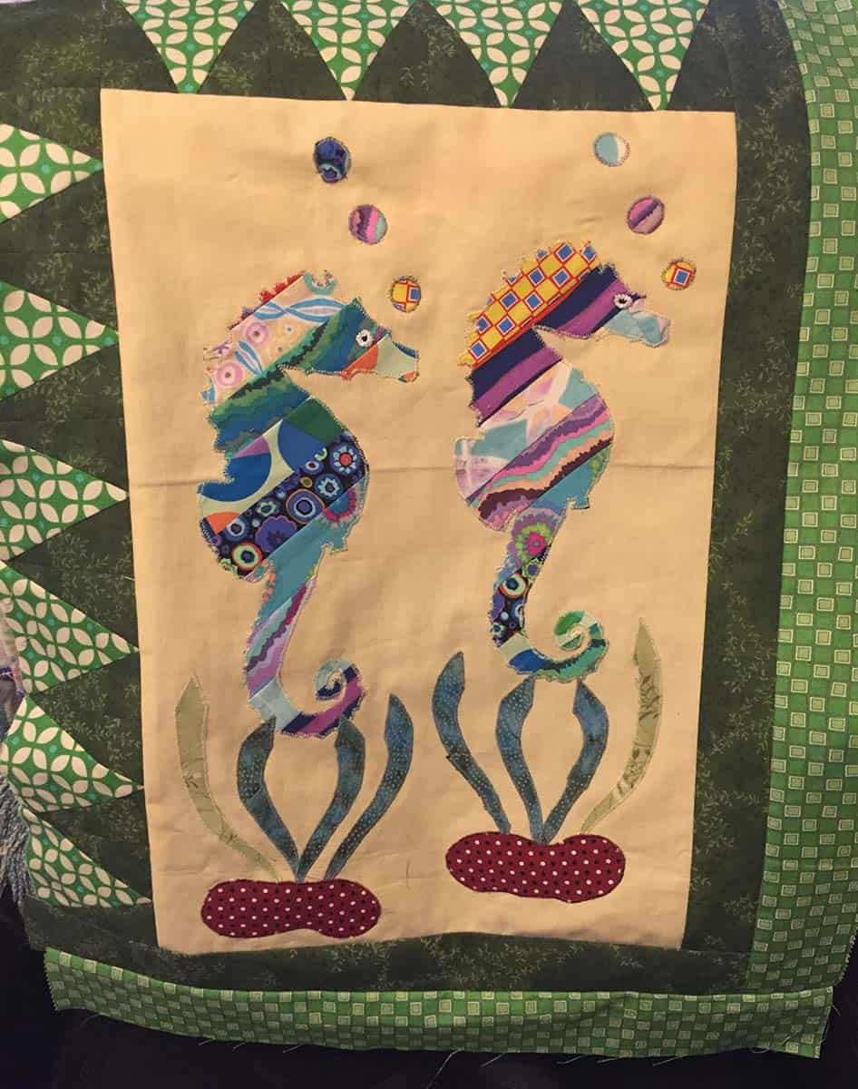 Coastal Seahorses quilt pattern