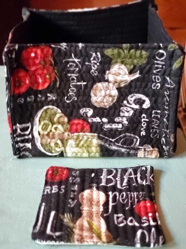 Karen fabric basket and coaster