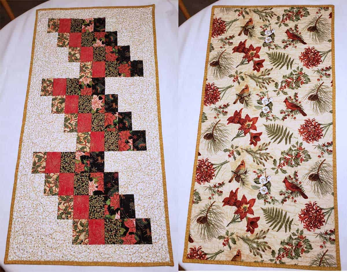 Autumn table runner by Kathy