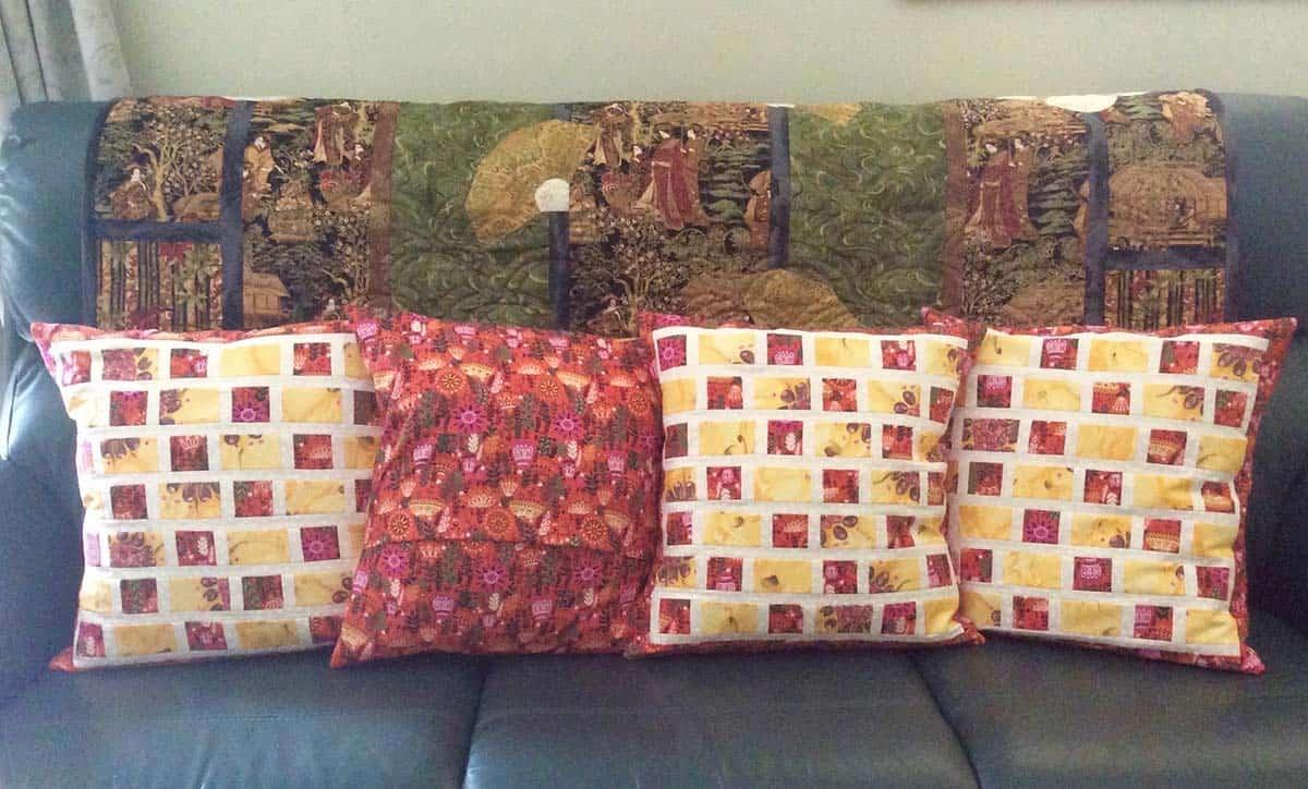 Brick Road pillows