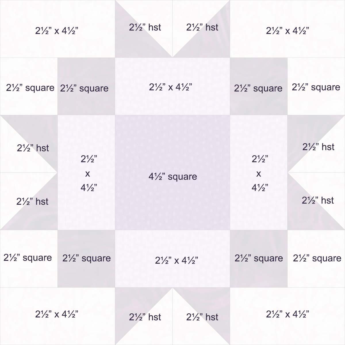 12-inch maple star diagram