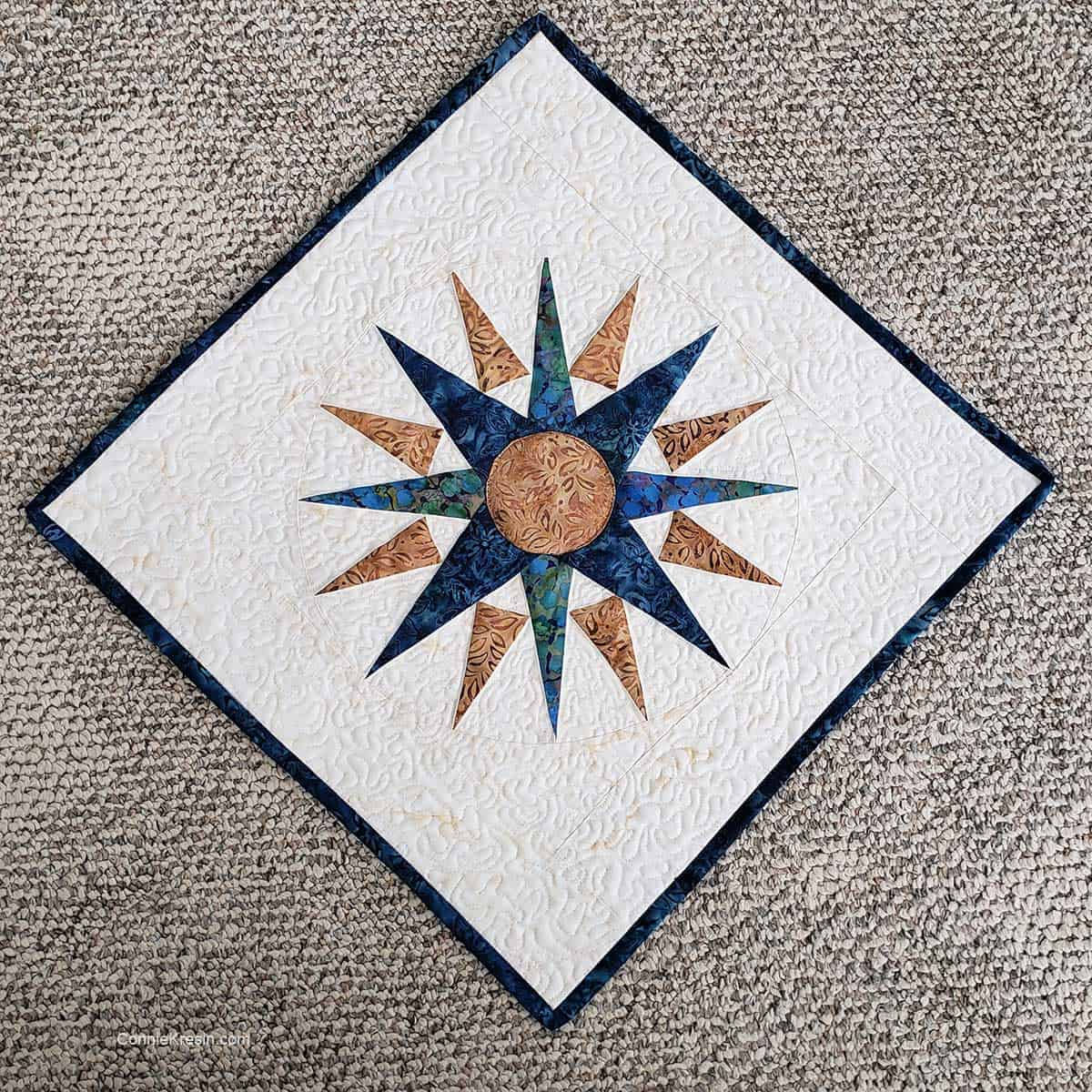 Mariner's Compass table topper finished