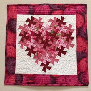 Twisting Heart wall hanging