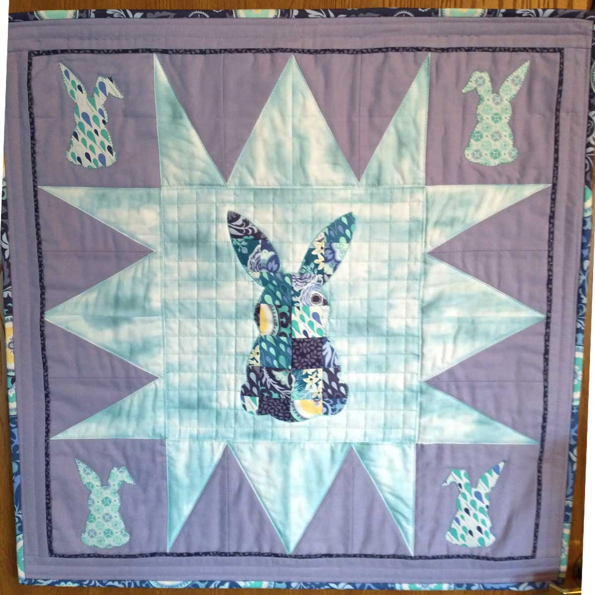 Patchwork Bunny wall hanging