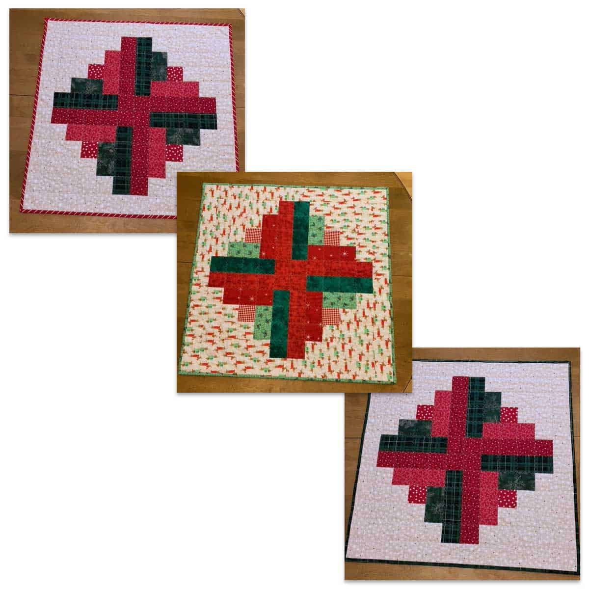 Christmas Logs quilt topper