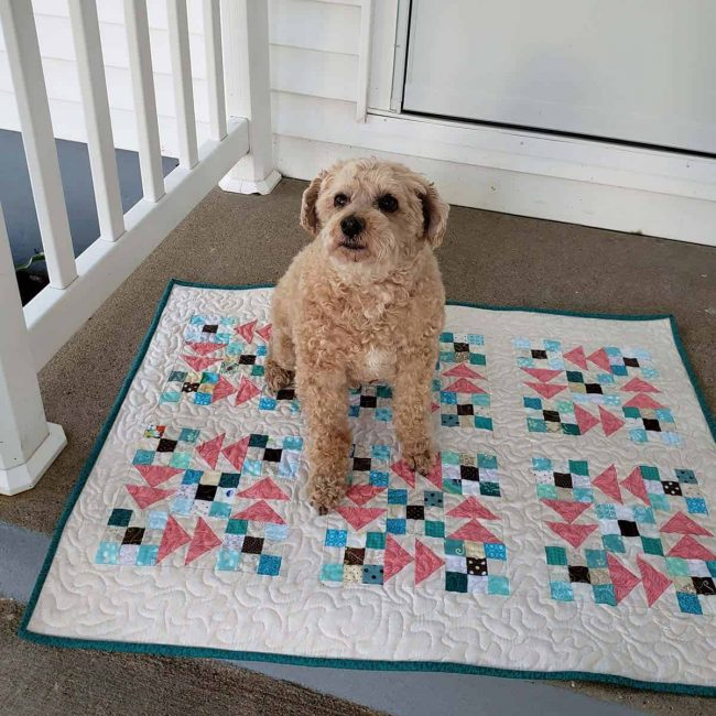 Mickey on quilt