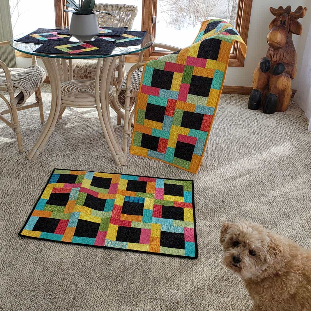 Midnight Glow quilt project with Mr. Mickey