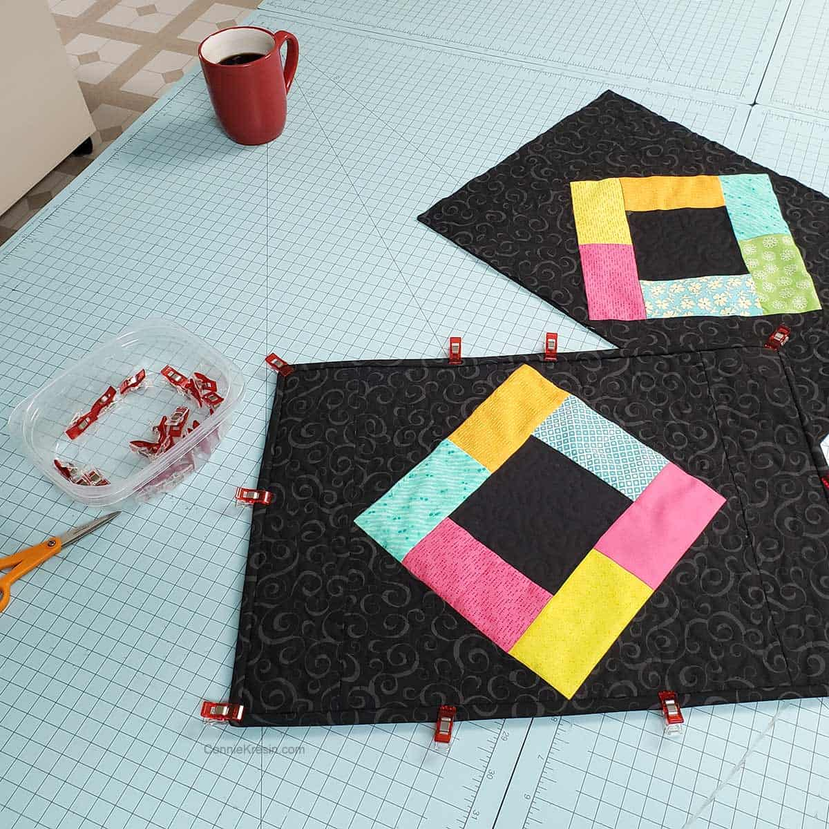 Binding the placemats