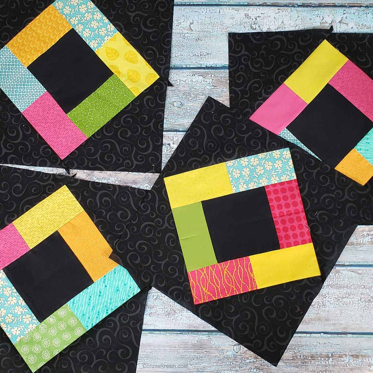 Four Midnight Glow placemats
