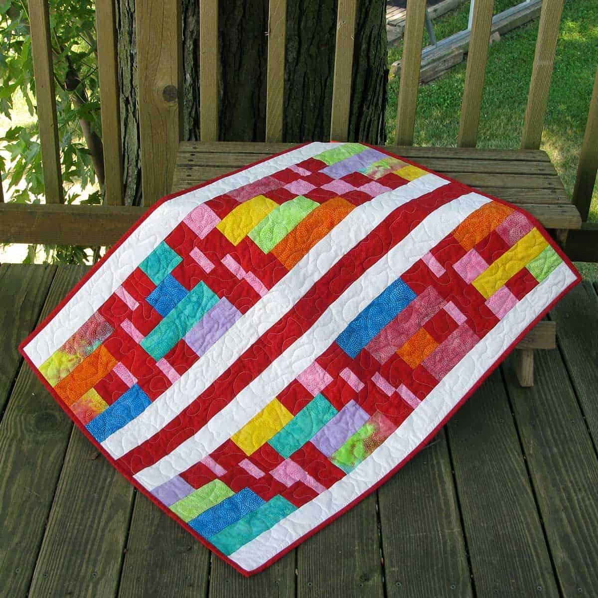 Modern Batik baby quilt #2