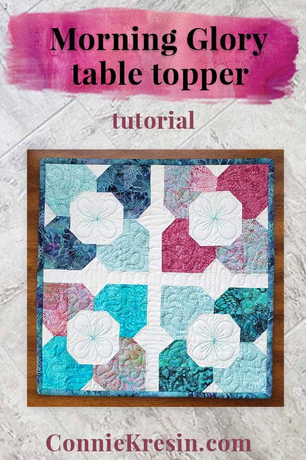 Morning Glory table topper ltutorial