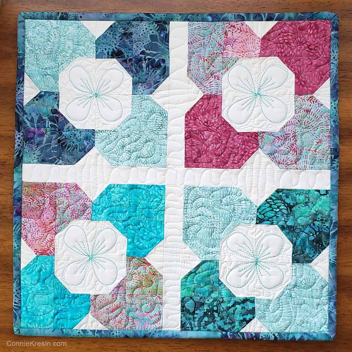 Morning Glory table topper tutorial