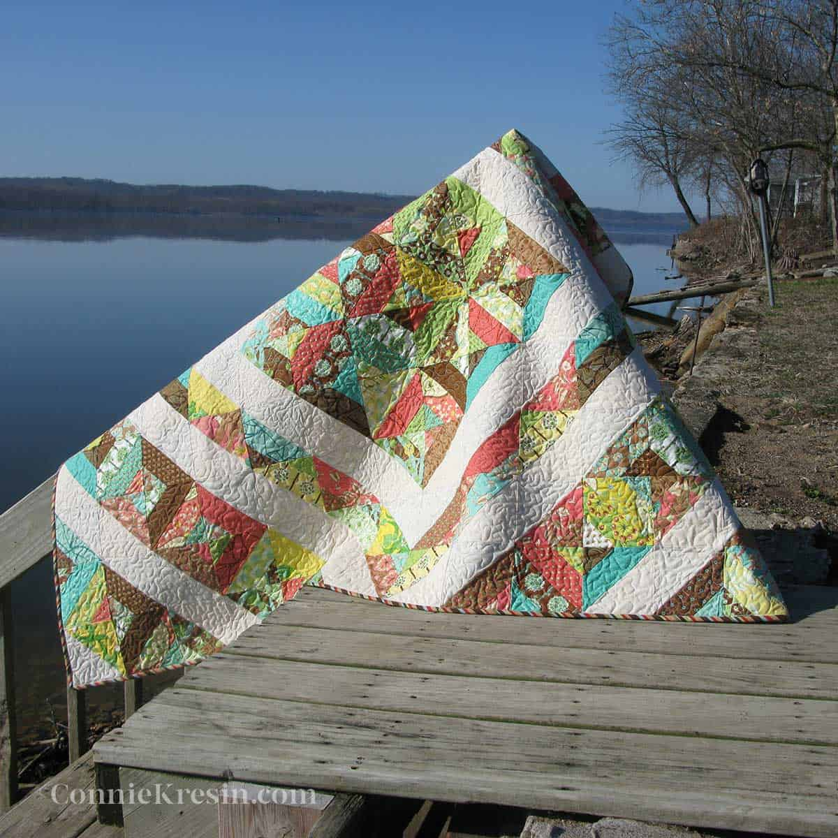 Neopolitan quilt by the riiver