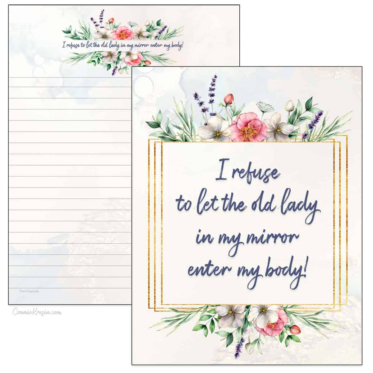 Old Lay in my mirror printables