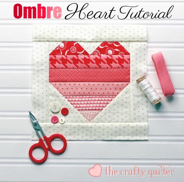 The Crafty Quilter heart quilt block