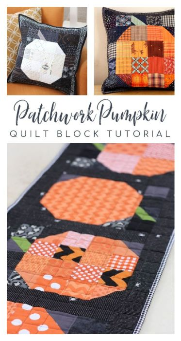 Pumpkin pillows and table runner