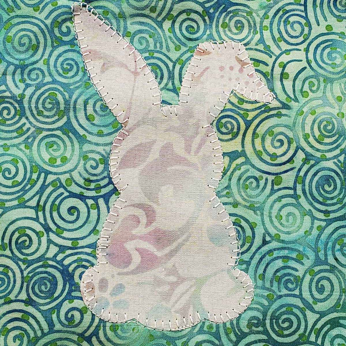 Small rabbit appliqued